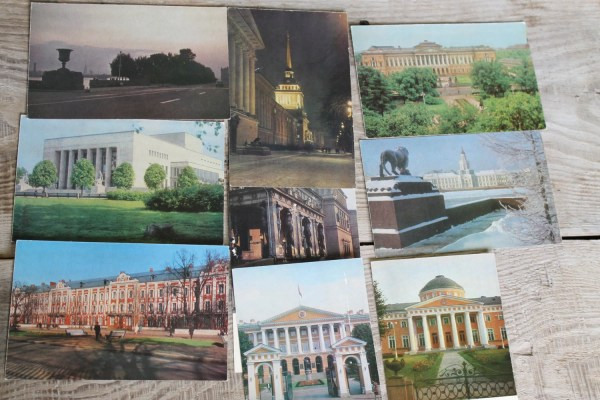Postcards Set of 9 with scenery and sights of St ...