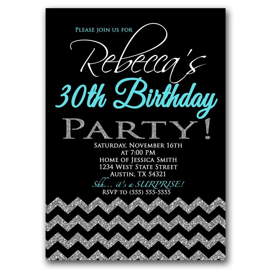 Birthday Invitations 30th