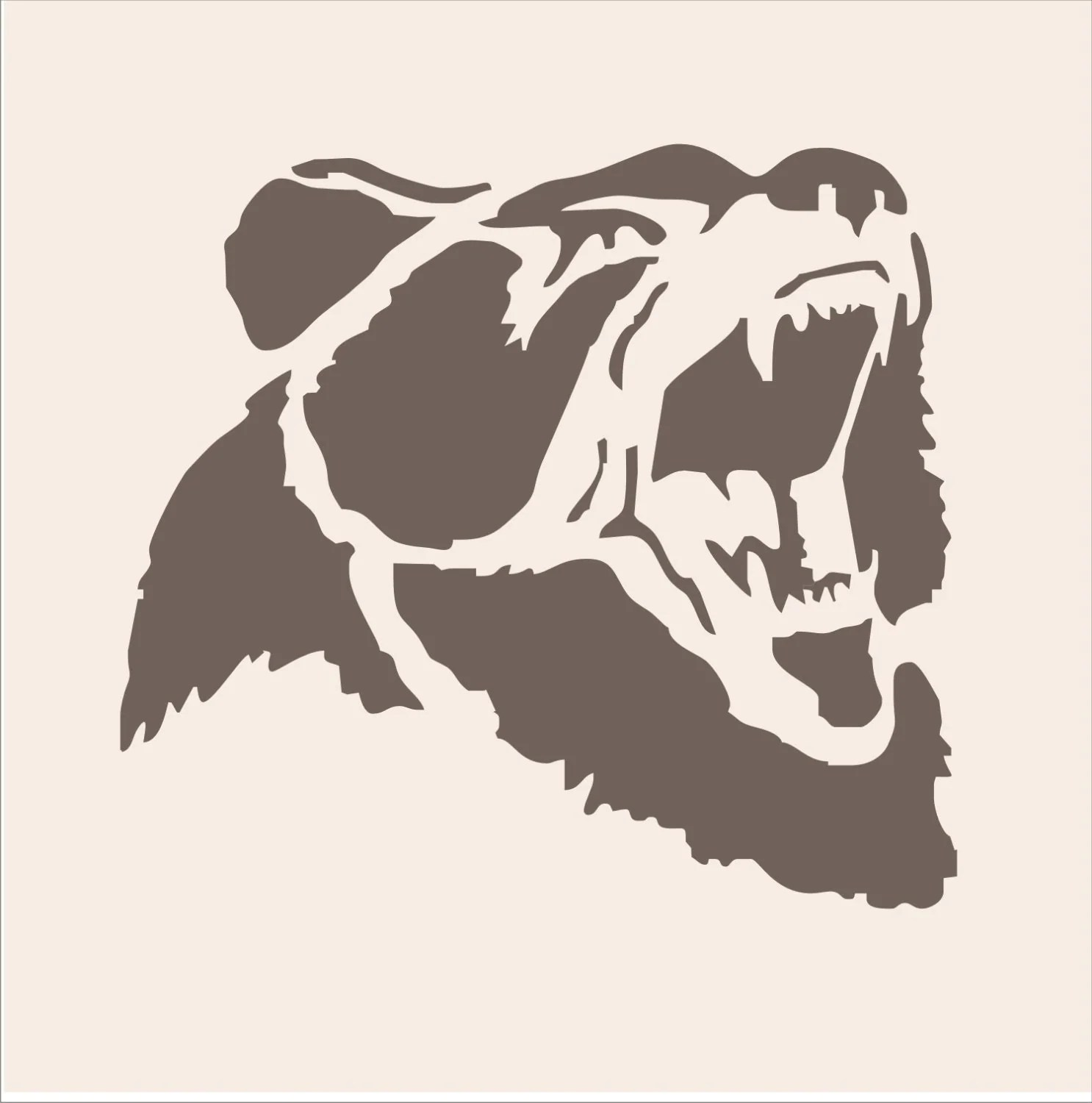Grizzly Bear Reusable Stencil 4 Sizes Available Create