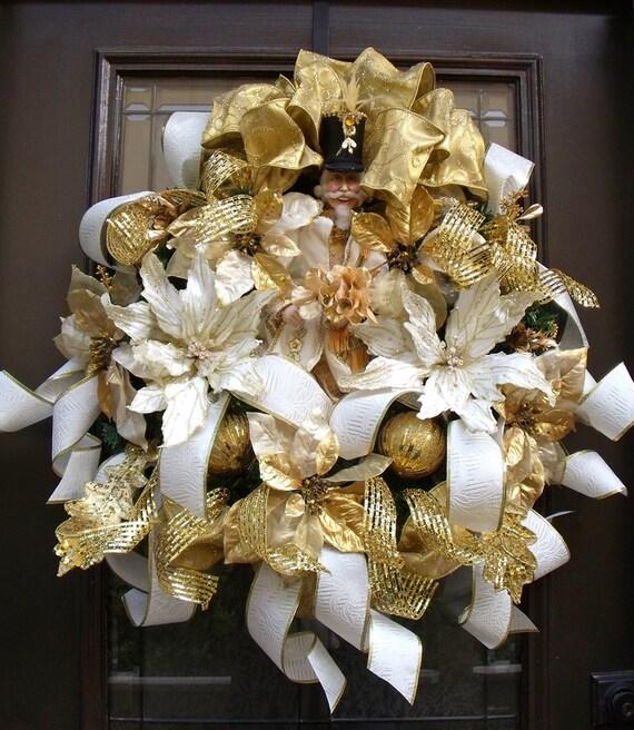 Nutcracker Wreath Christmas Wreaths Designer Door Wreath