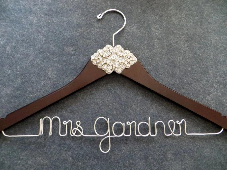 RHINESTONE Wedding Dress Hanger Crystal Bride Hanger By