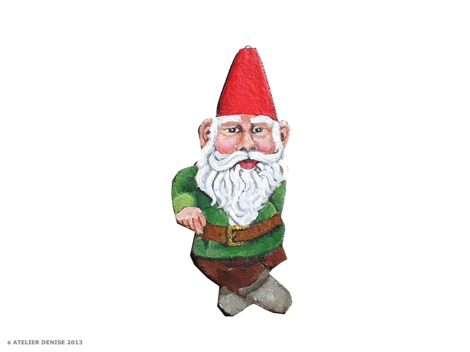 Garden Gnome Christmas Holiday Tree Ornament - AtelierDenise