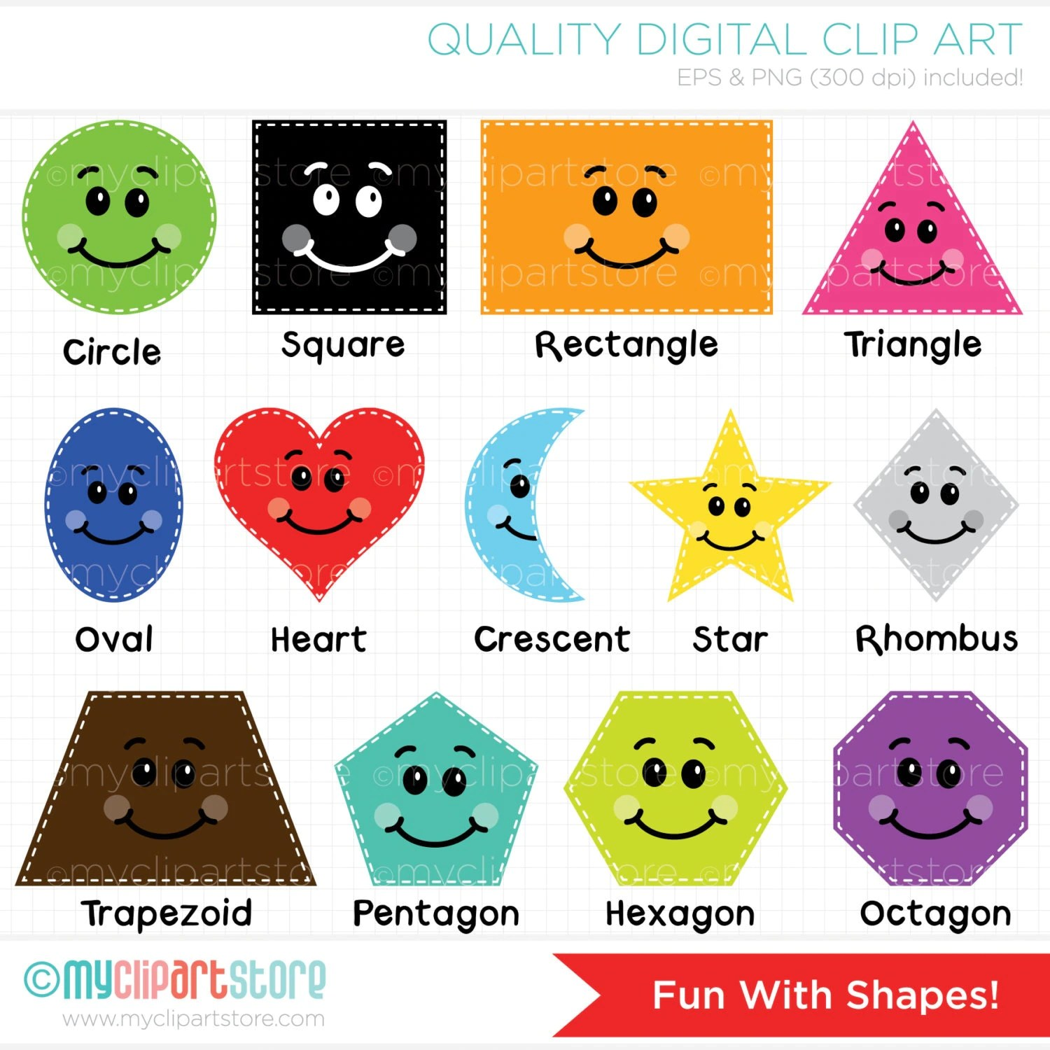Clipart Fun With Shapes Educational Teachers Digital