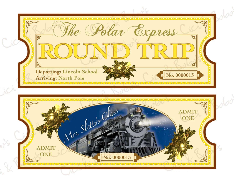 Polar Express Theme Diy Printable Ticket By Cici By