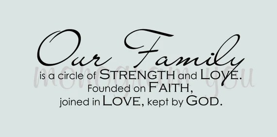Download Our Family is a circle of Strength and Love. by MonogramYou