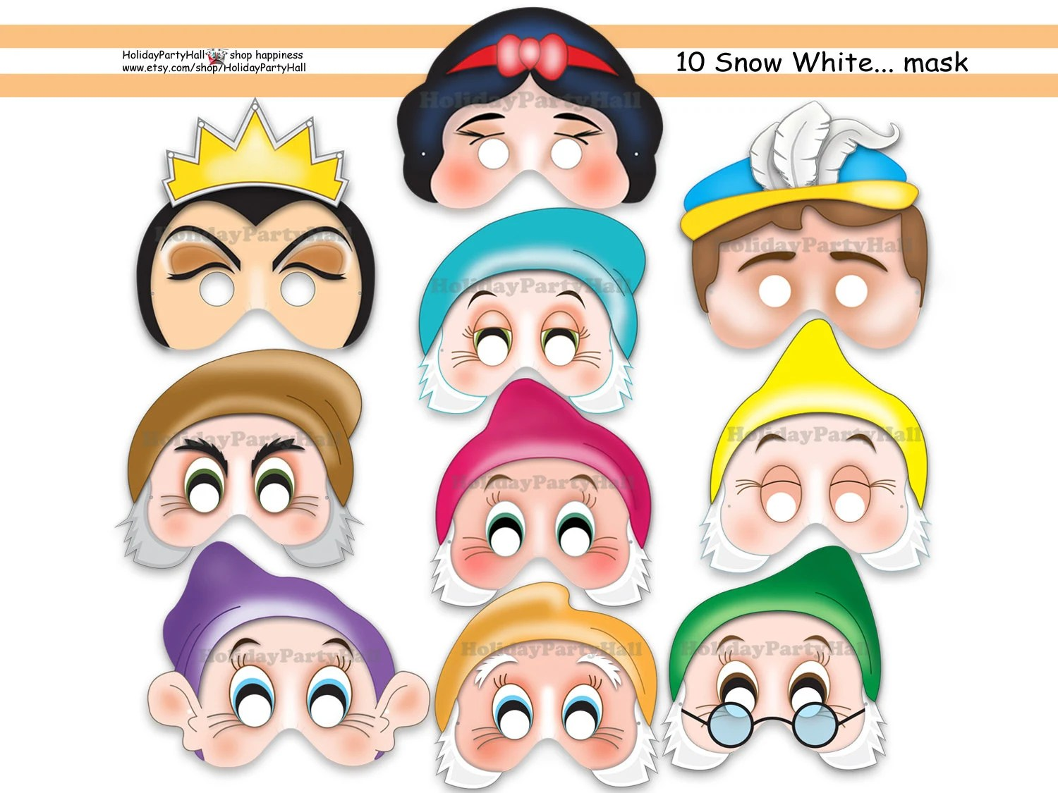 Unique Snow White And The 7 Dwarfs Printable By