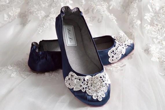 Blue Wedding Flats