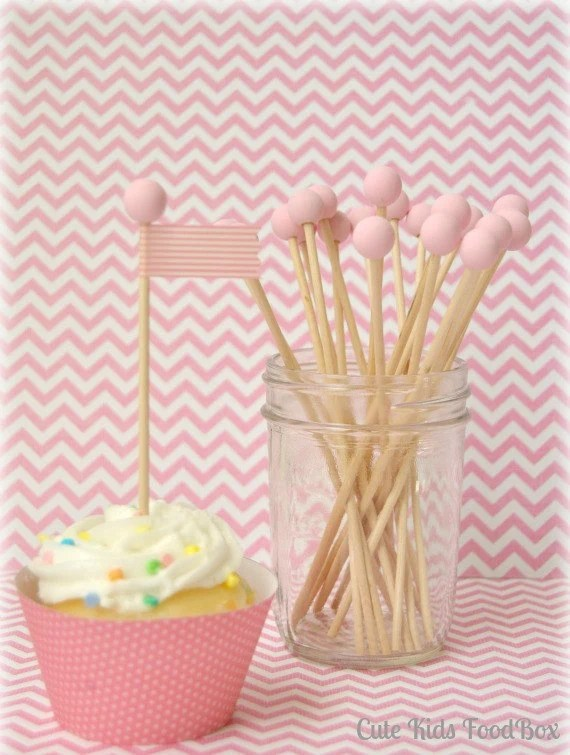 Pink And White Candy Sticks