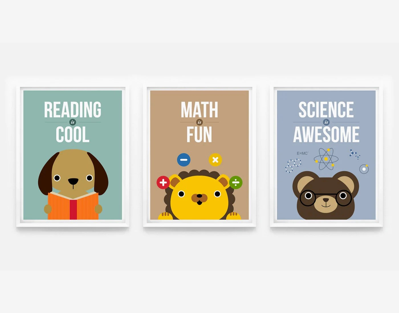 Reading Is Cool Math Is Fun Science Is Awesome Children