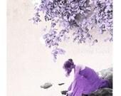 Purple art decor, photography, wall art print, Wall decor, purple, photograhy, home, alone, women, pastel, women, Print 12'' x 12'' inch - gonulk