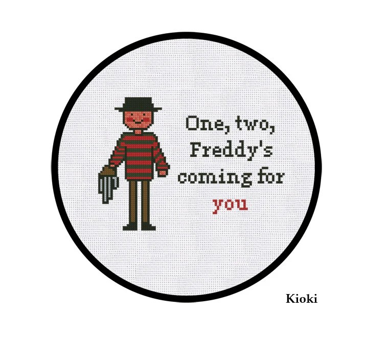 Cross Stitch Pattern Freddy Kruger Instant Download