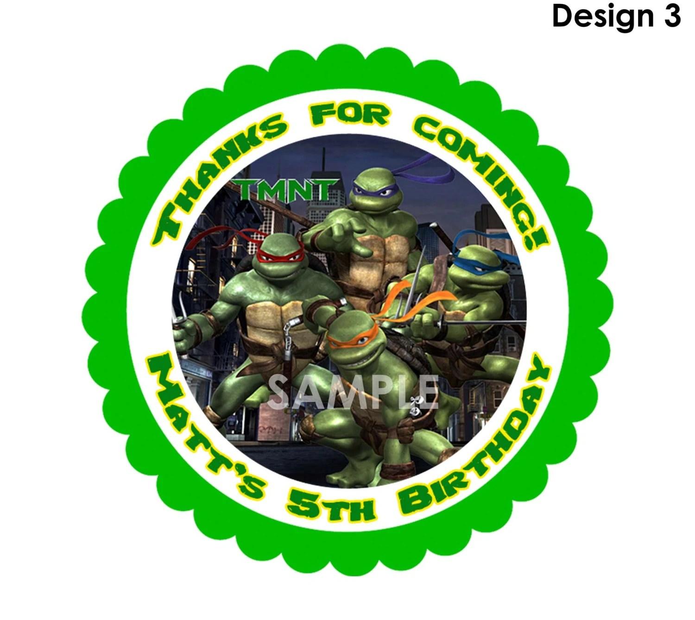 Teenage Mutant Ninja Turtles Treat Bag Label Printable Thank