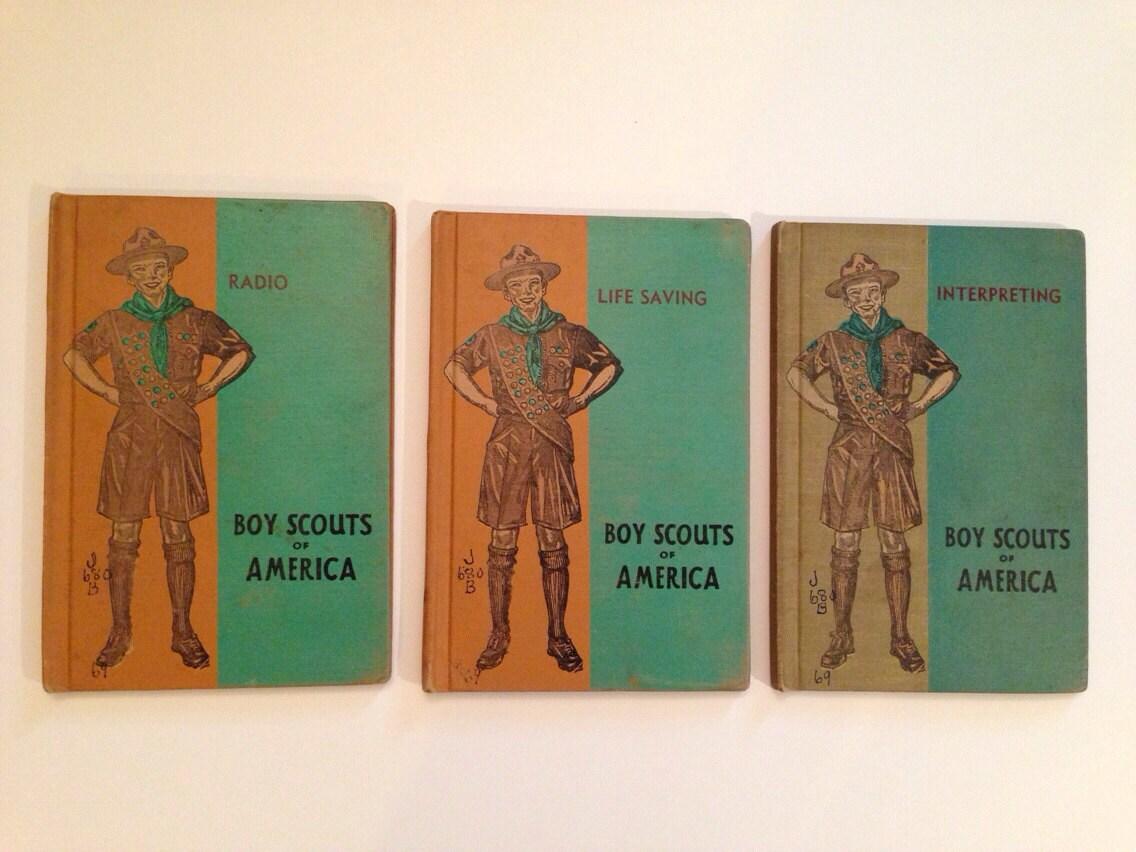 3 Vintage Boy Scouts Of America Merit Badge By Burlapvintagekc