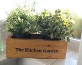 Windowsill herb garden or kitchen garden planter. Can be used for  planting up and sowing seeds or to hold supermarket herb pots. - Devonshiredumplinguk