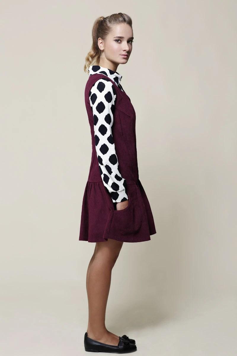 Pinafore Dress Jumper Dress Corduroy Dress Womens Dress
