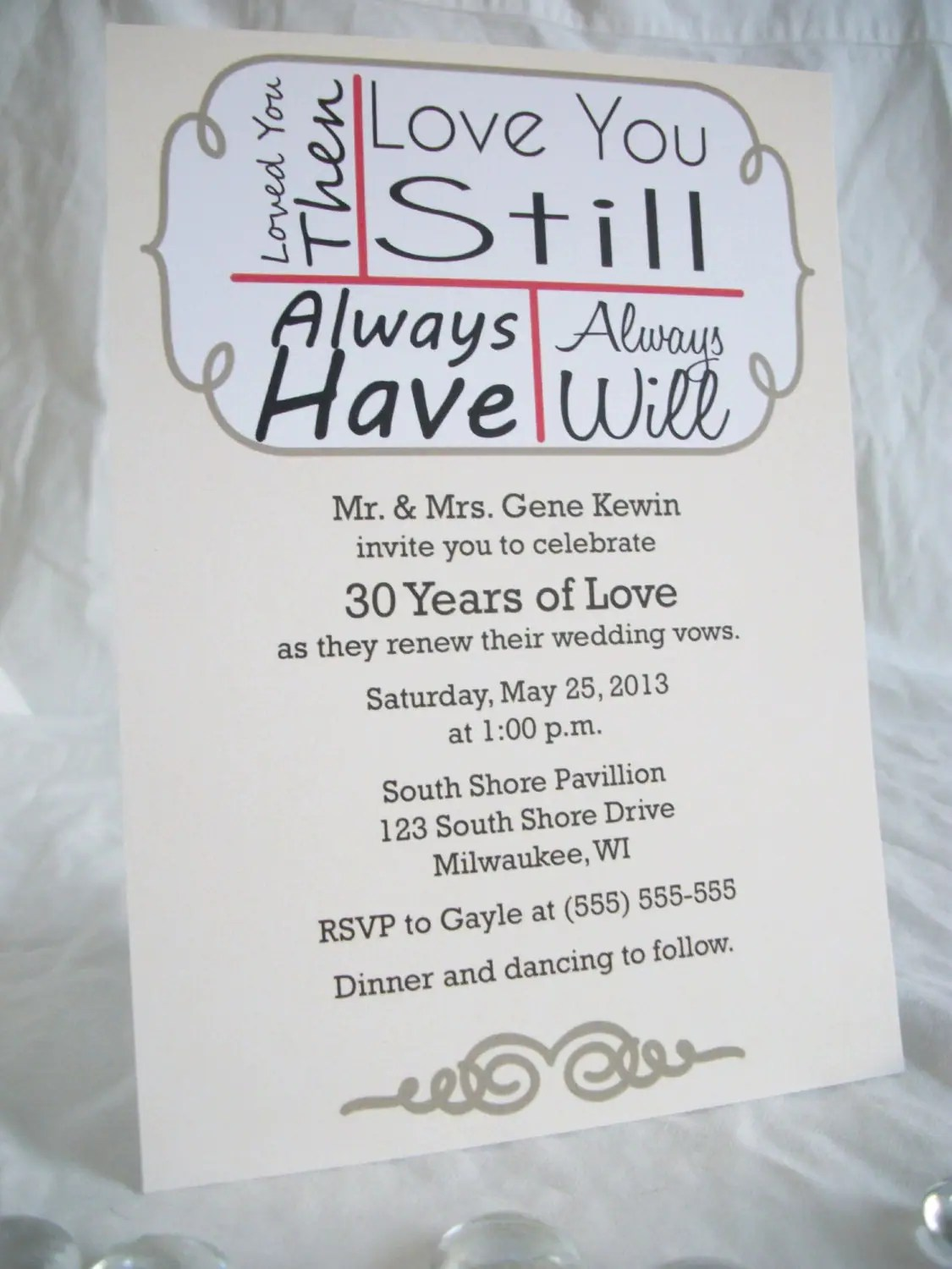 24 love you still vow renewal invitations onepaperheart