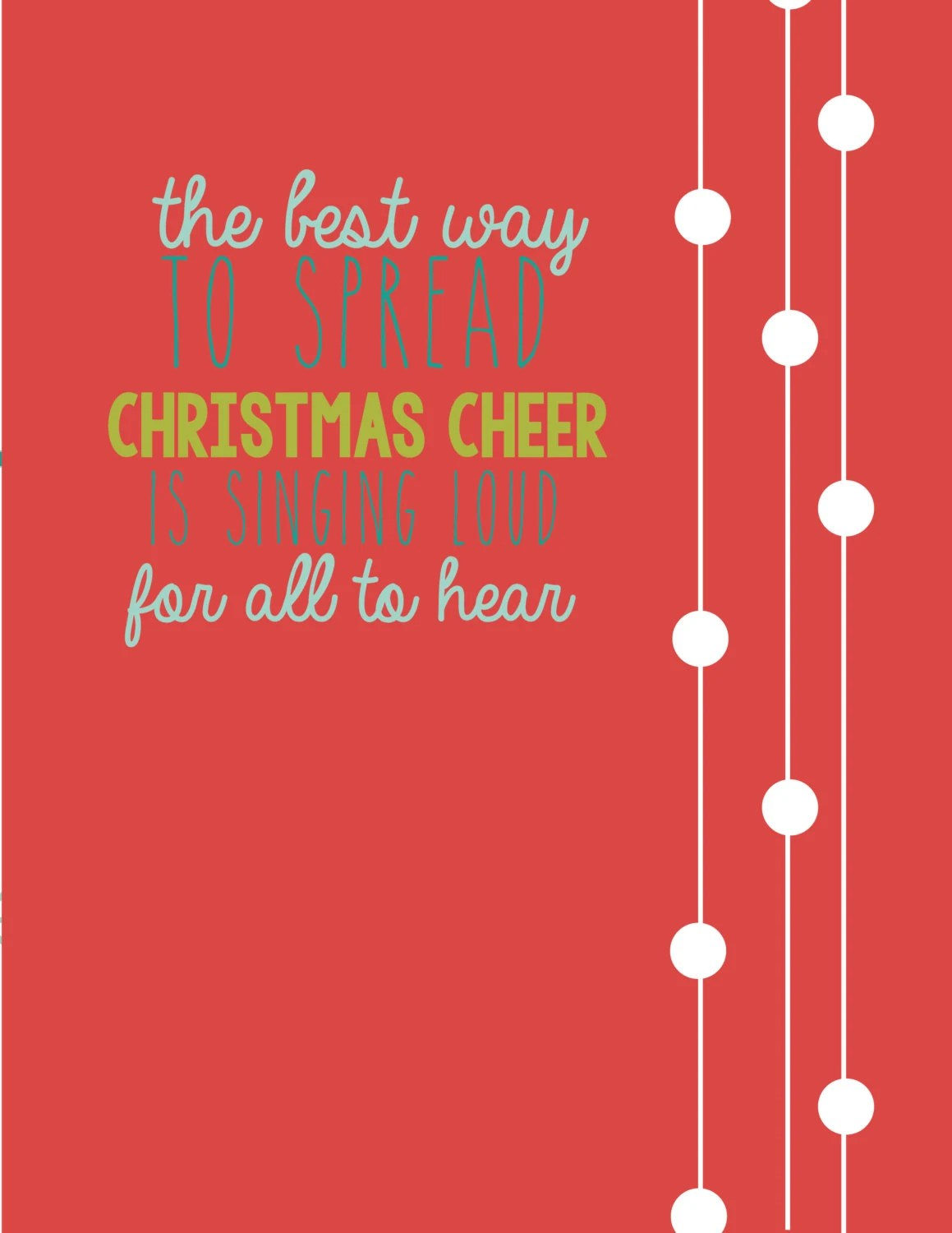 Christmas Cheer Elf Quote Print