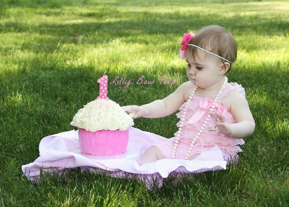 Baby Girl Clothes Pink Lace Rompernewborn Girl By LillyBowPeep