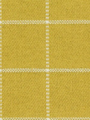 Lemon Yellow Plaid Upholstery Fabric By The Yard Yellow And