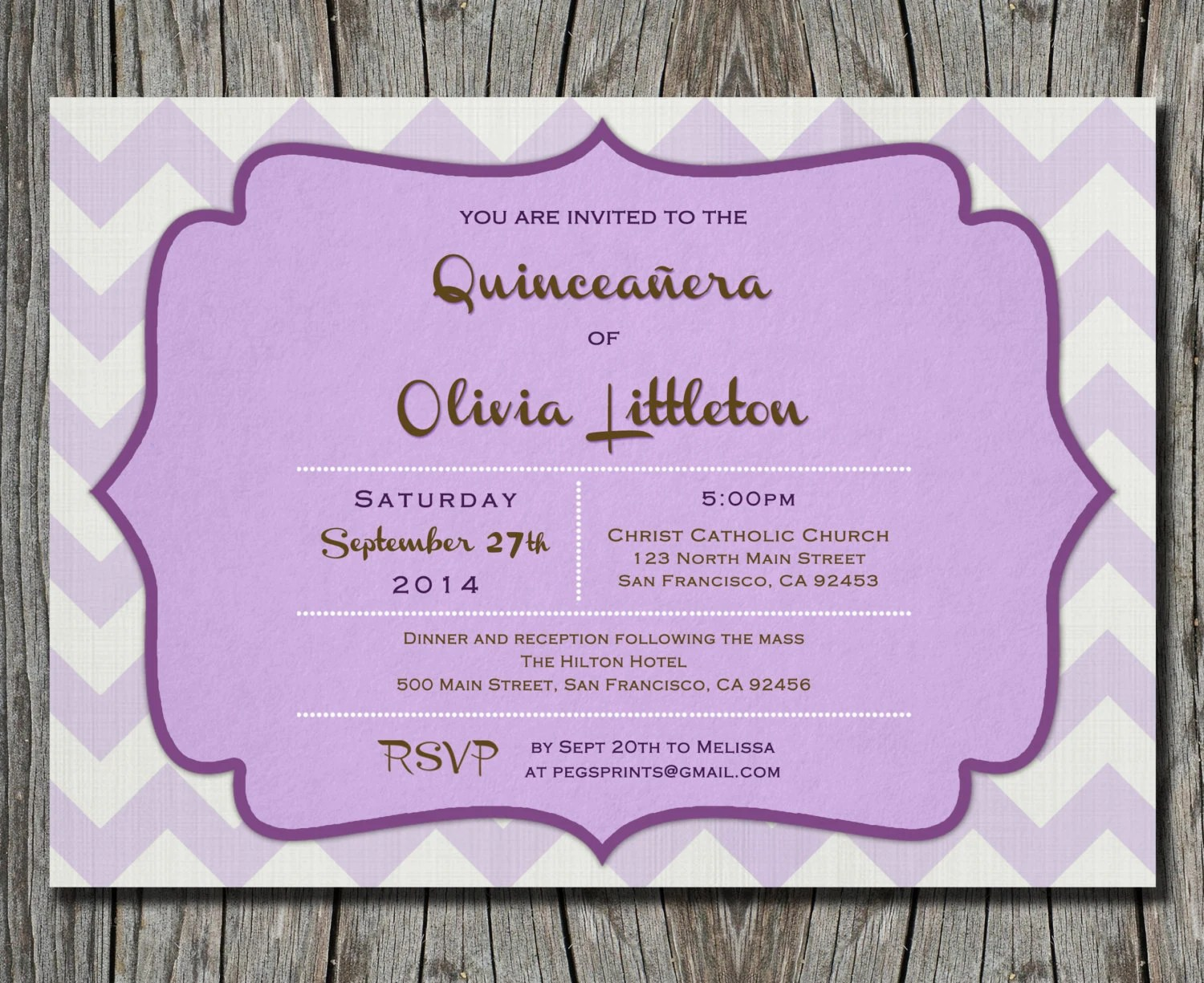 Free Online Printable Quinceanera Invitations
