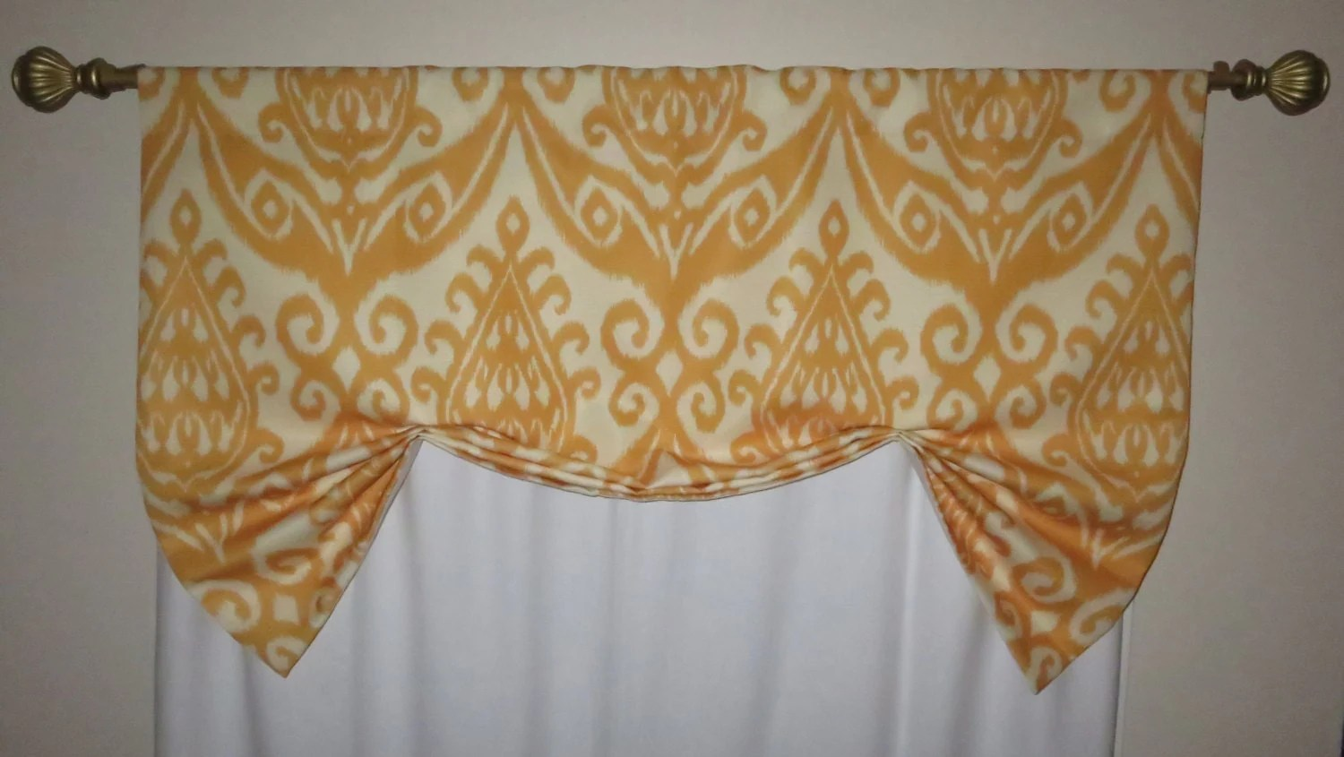 Yellow Window Valance Butterfly Valance Lined Window