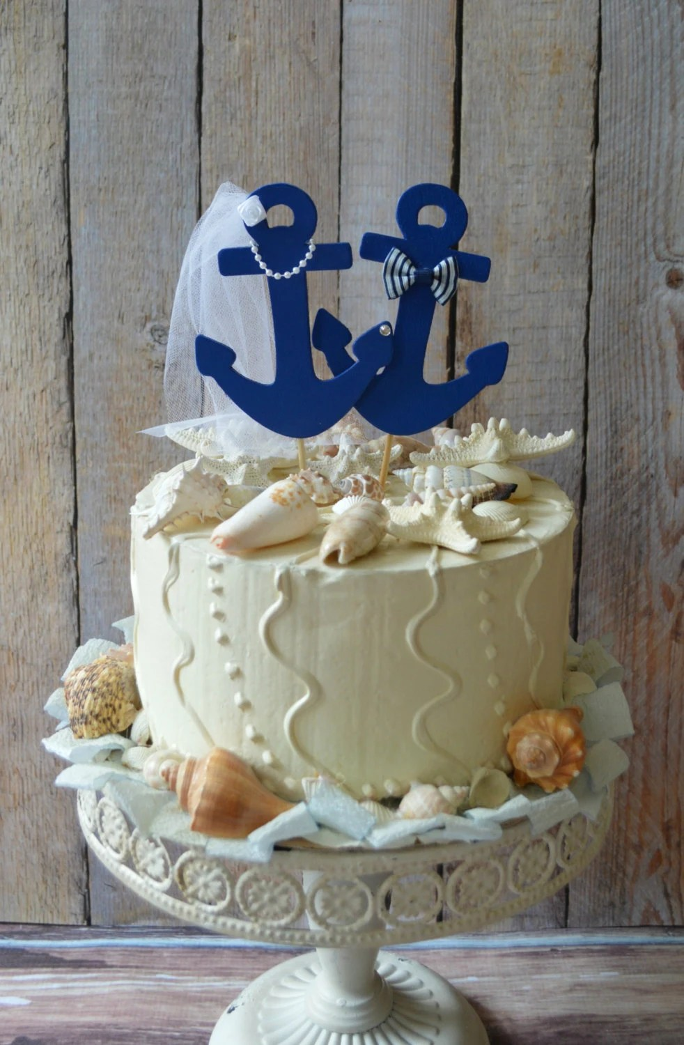 Anchors Away Wedding Cake Topper Anchors Boat Wedding Cake