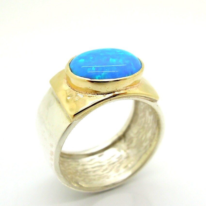 Hammered Gold Ring Band