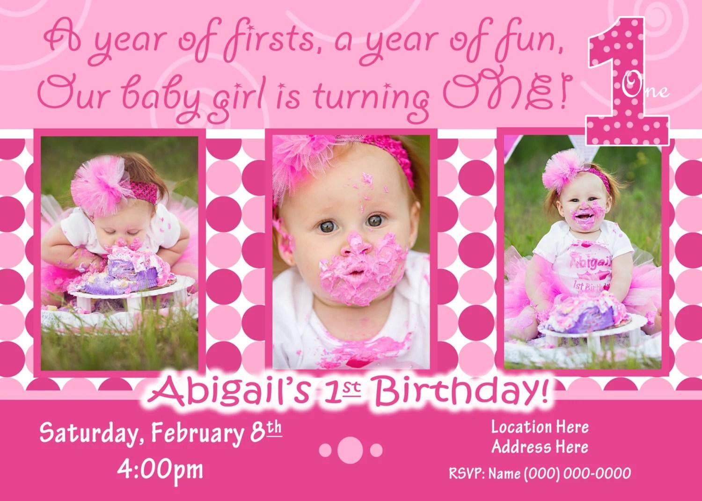 Baby Birthday Invitations