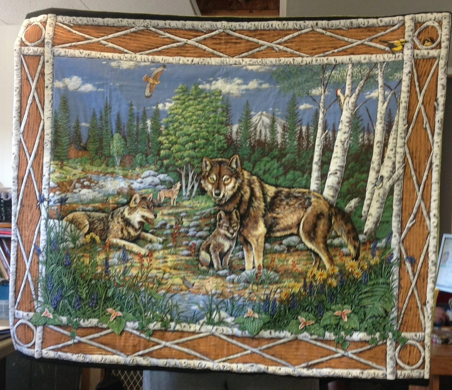 Wolf Family Wall Hanging Wolf Family Wall Decor By