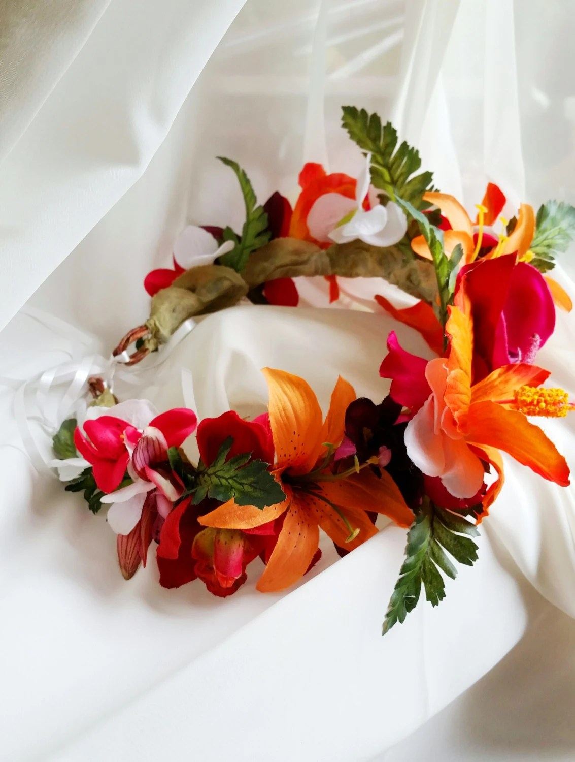 Items Similar To TROPICAL FLOWER CROWN Hawaiian Tropical