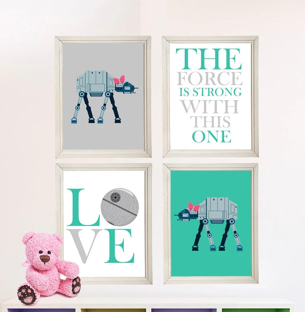 Baby Girl Star Wars Nursery Art Girl Room Decor By Lilyleilarose