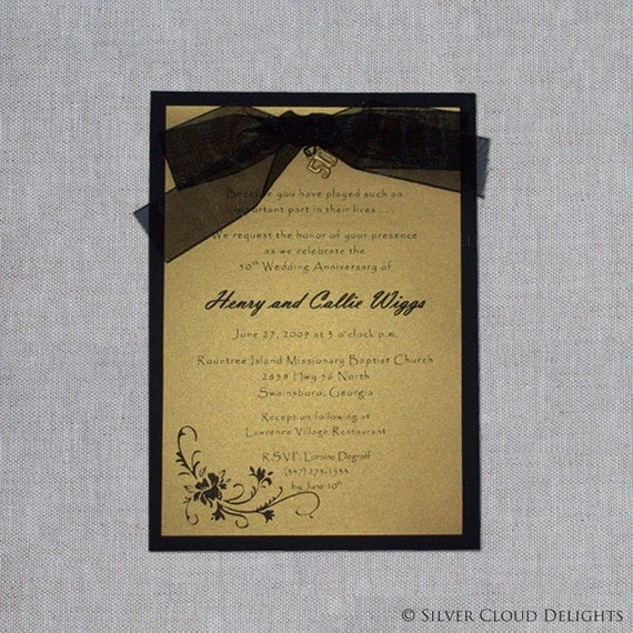 Cheap 50th Wedding Invitations