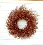 Fall Wreath-Fall Door Decor-Thanksgiving Wreath-PUMPKIN SPICE Door Wreath-Fall Twig Wreath-Rustic Wreath-Autumn Berry Wreath-Fall Home Decor