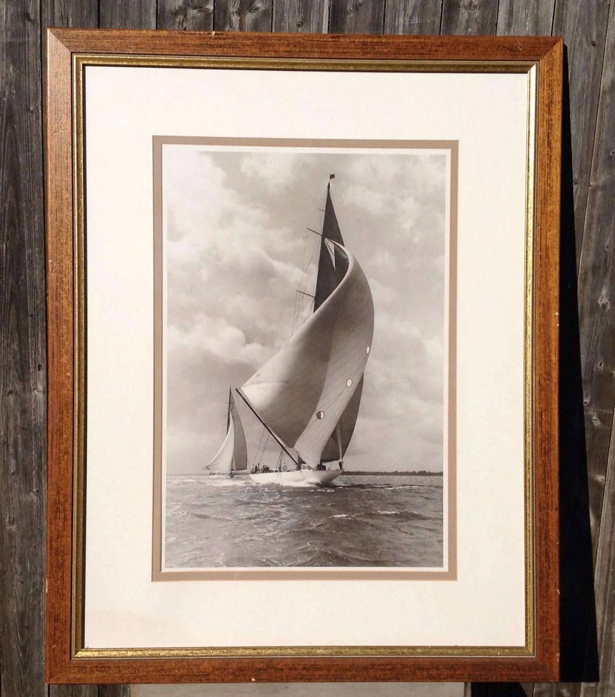 mid century modern schooner photo wall art haute juice. Black Bedroom Furniture Sets. Home Design Ideas