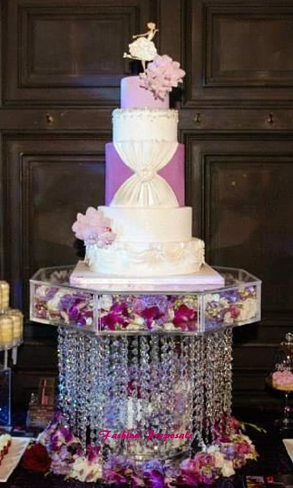 Crystals Stand Cake Tall