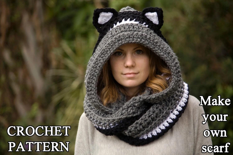 Knitted Panda Scarf Pattern