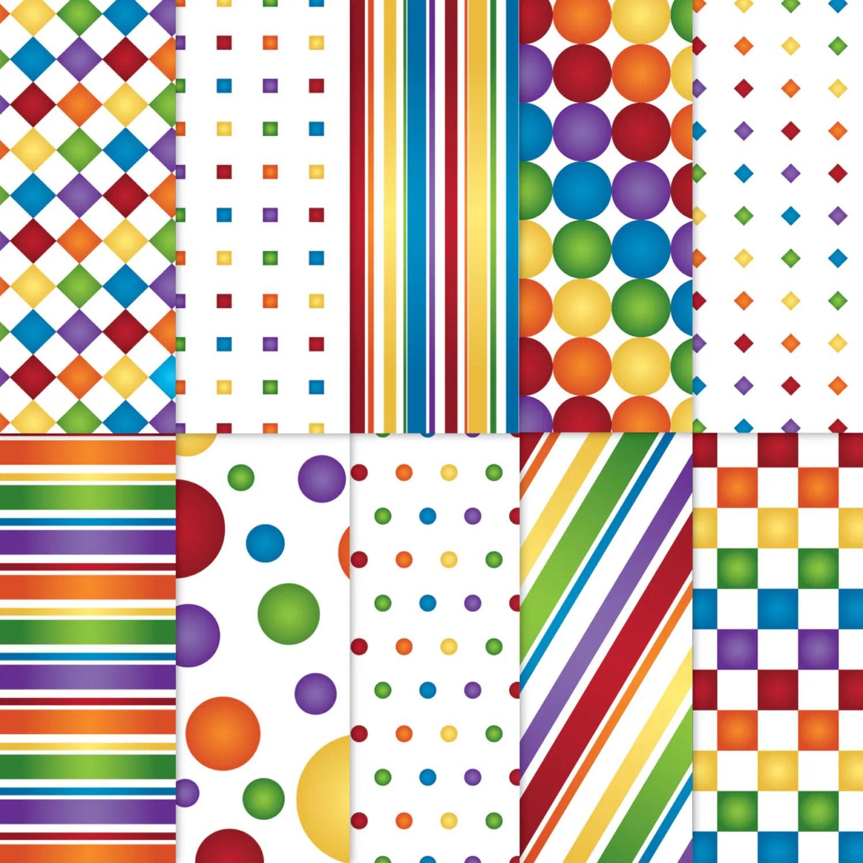 Rainbow Scrapbook Paper Printable Rainbow Paper Printable