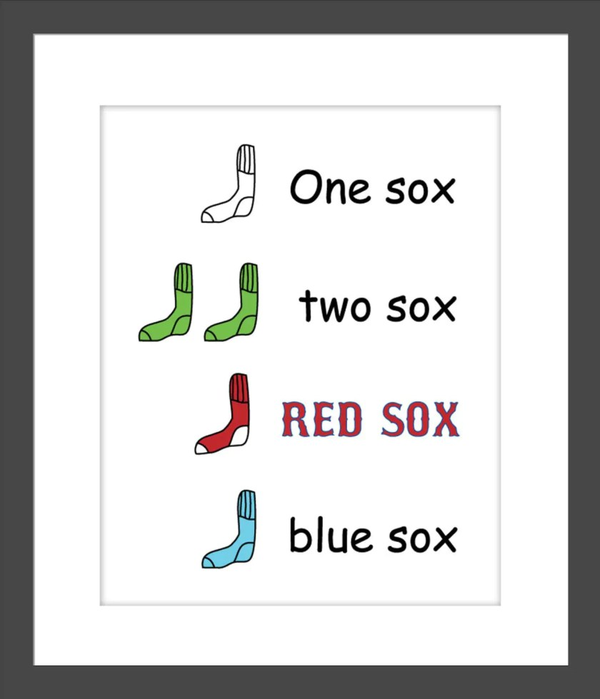 red sox nursery/ dr. suess one sox two sox red sox blue sox/