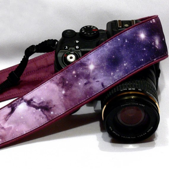 Galaxy Camera Strap, Cosmos Camera Strap, Space Camera Strap, Blue Purple Camera Strap, Nikon, Canon Camera Strap, Women Accessories