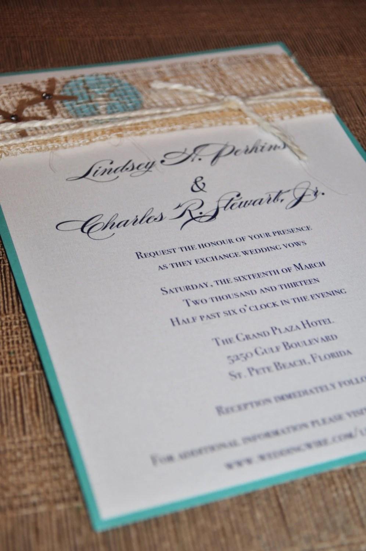 Starfish Invitation Set...