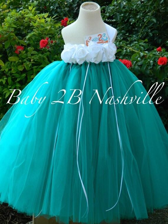 Teal Flower Girl Dresses