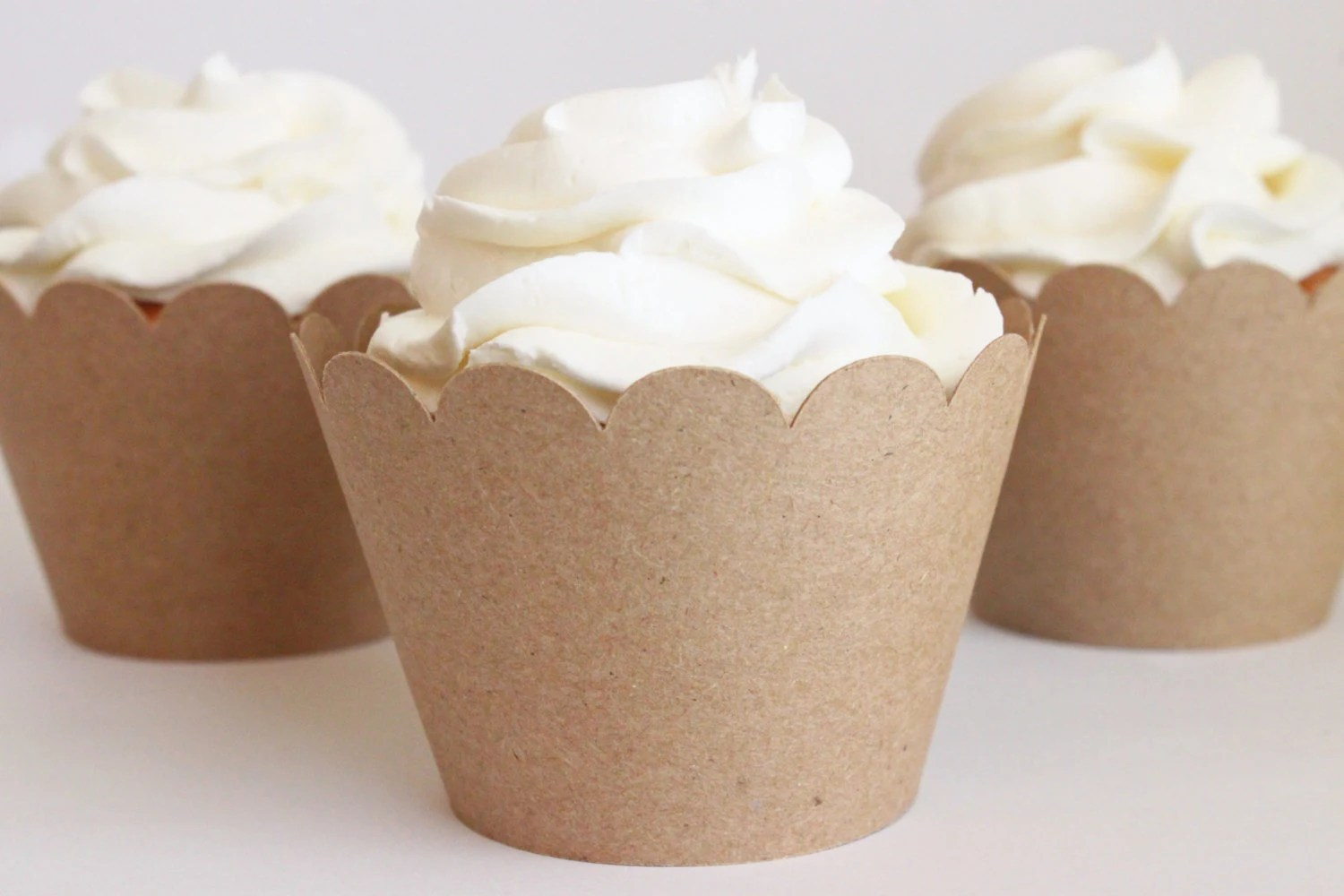 Paper Cupcake Holders. Green Direct Standard Size White
