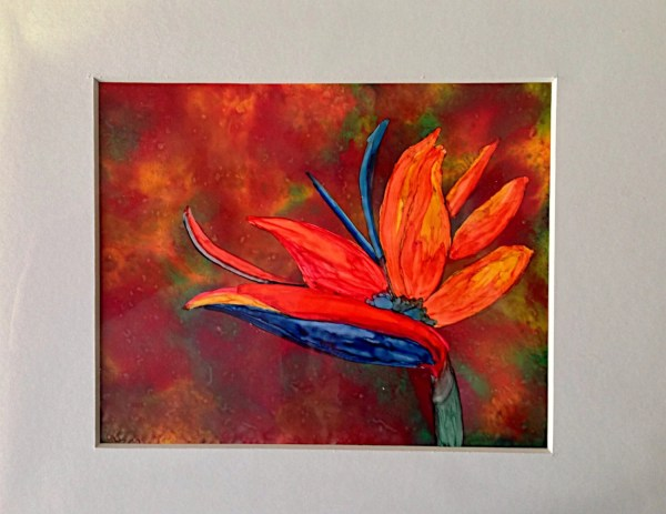 Alcohol ink painting. Bird of Paradise II by KCsCornerGallery