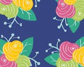 Glee by Sew Caroline for Art Gallery Fabrics, Preppy Fleurs GFL-380 Yardage (1/4 Yard Minimum)