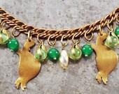 Vintage Turtle Love Vintage Boho Charm Bracelet - Vintage Assemblage