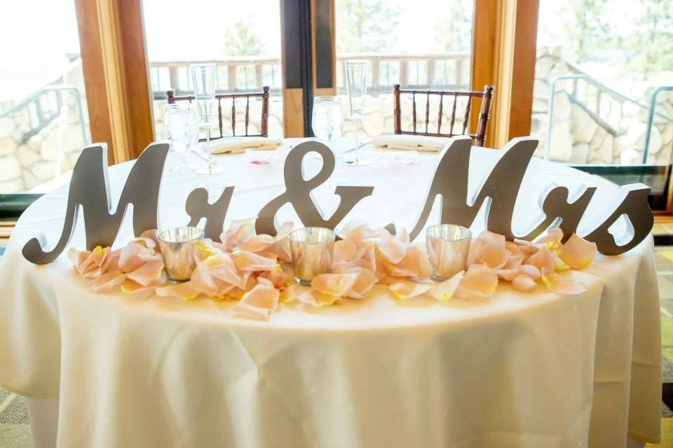 Mr And Mrs Wedding Signs Table Signs For Sweetheart Table