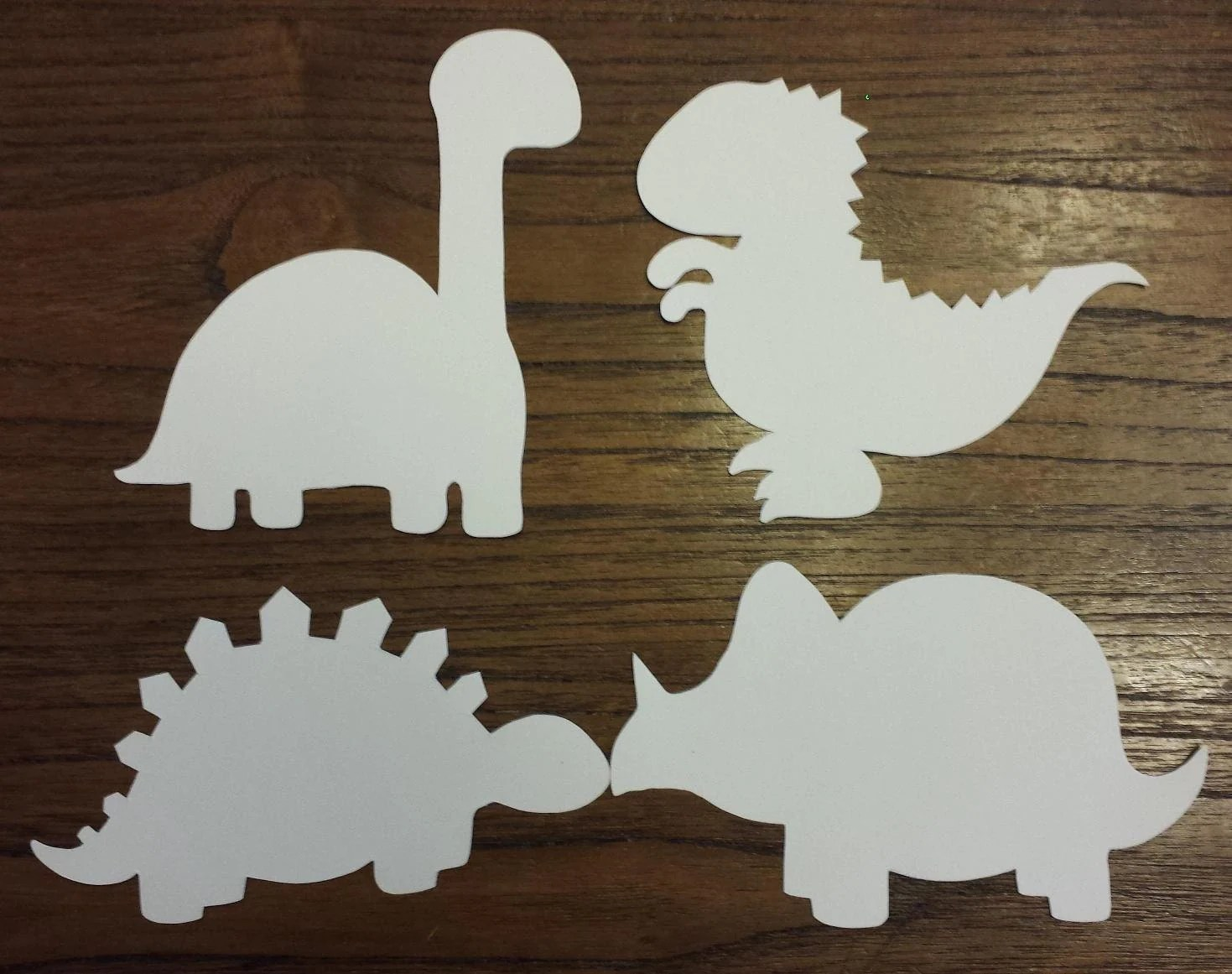 Dinosaurs Cut Outs Set Of 4 Kids Color Craft Play By