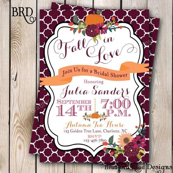 Bridal Shower Fall Invitations