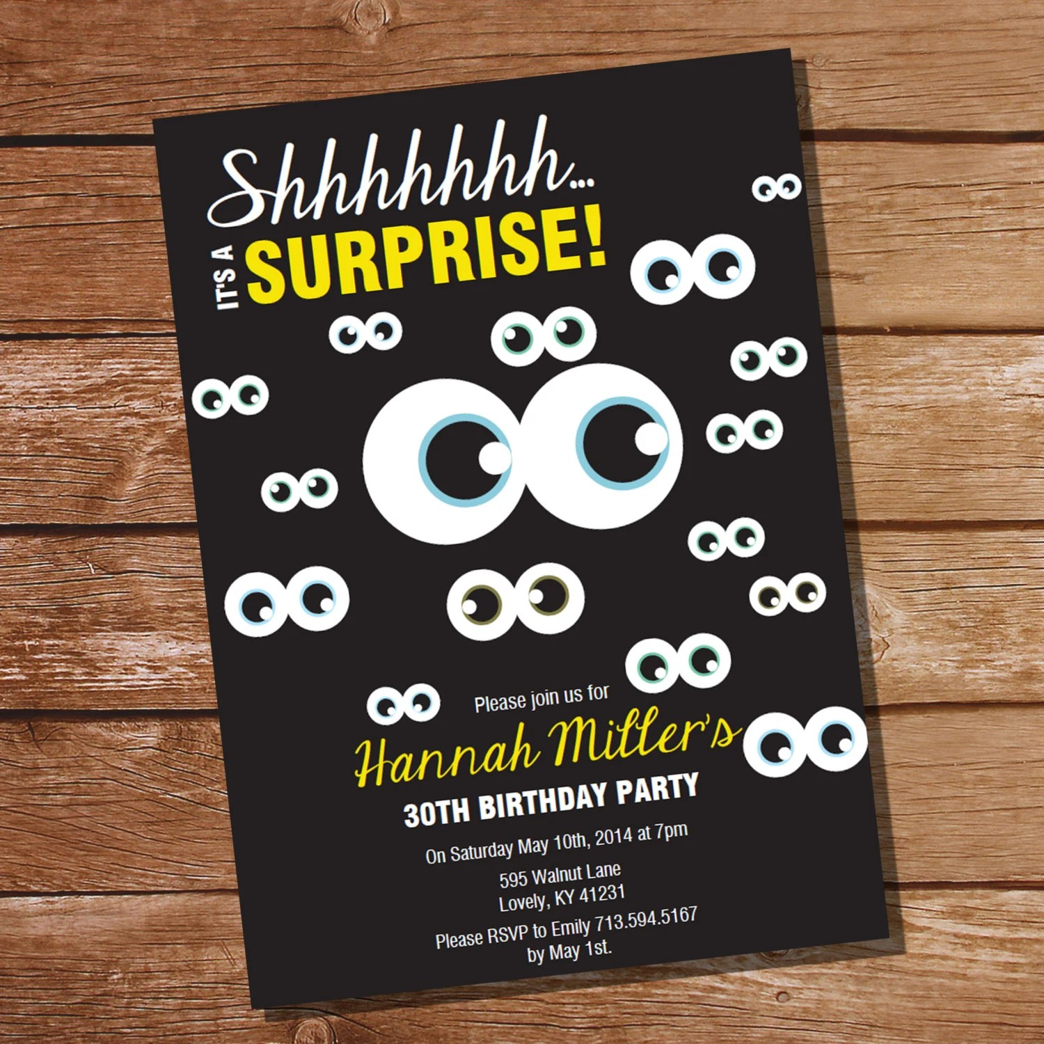20th birthday surprise party invitation filmwisefo