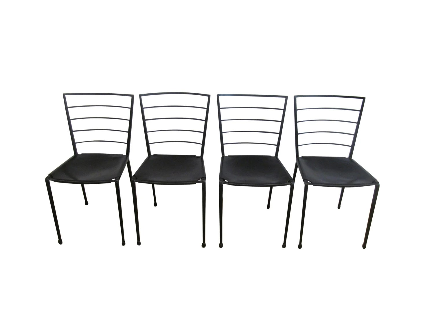Set Of Four Ladderax Dining Chairs Designed By Robert Heal